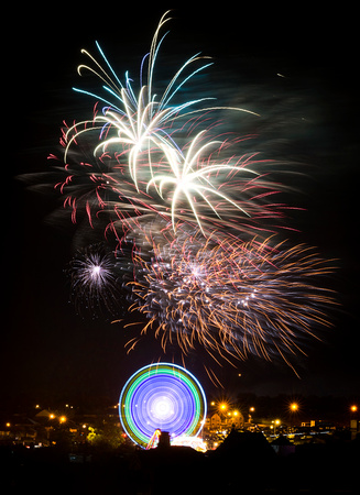 Fireworks display at the Fleadh Cheoil in Sligo Town