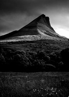 Benwiskin Mountain at Sunset, Sligo BW